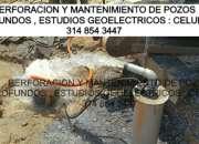 Perforación de pozos profundos  Mantenimiento de pozos profundos estudios geoelectricos