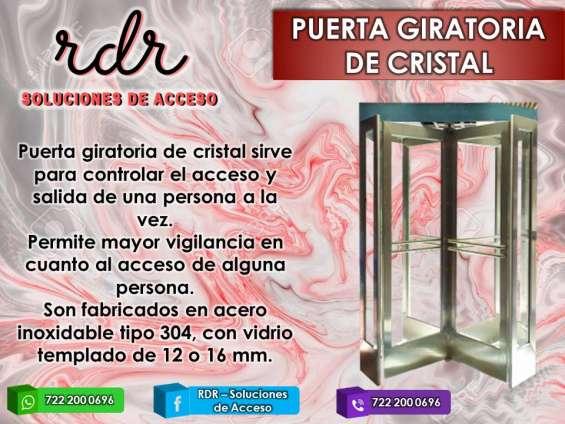 Puerta giratoria de cristal - rdr soluciones de acceso